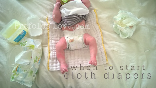When to Start Using Cloth Diapers