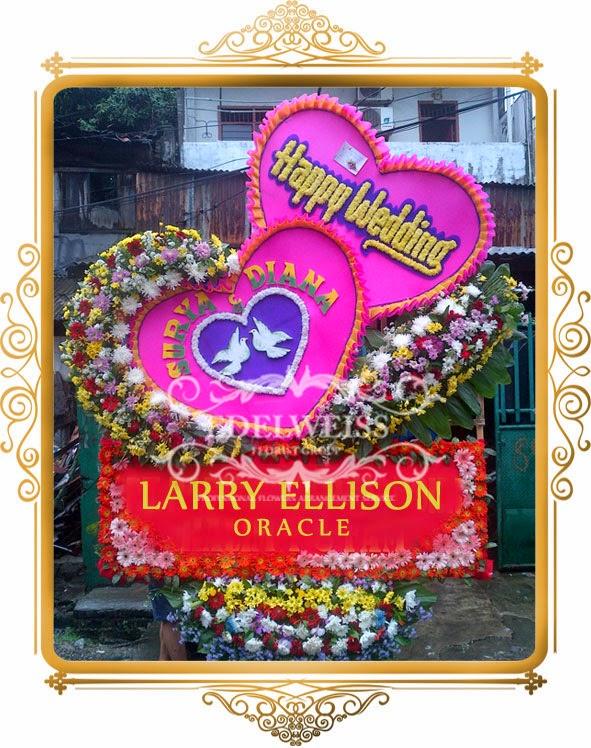 Karangan Bunga Papan pernikahan Ukuran Besar variasi