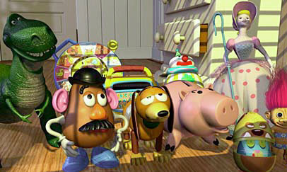 Mr. Potato Head and friends in Toy Story 1995 animatedfilmreviews.blogspot.com