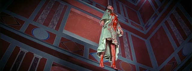The hanging murder scene in Suspiria