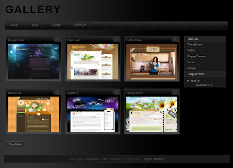 Gallery Blogger Theme