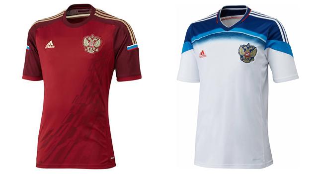 Camisetas selección Rusia Mundial 2014
