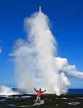 Alofaaga Blowholes on Savai'i Island in Samoa