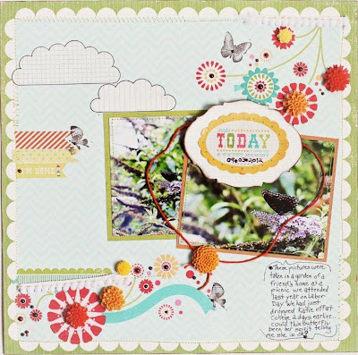 Spring Butterflies_Whimsical Scrapbook Page_Sharon Fritchman