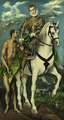 Szent Márton és a koldus - El Greco