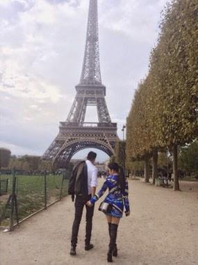 HEBOH SYAHRINI GANDENG COWOK PARIS 2014