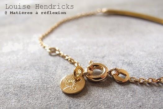 Louise Hendricks bracelet tube plaqué or