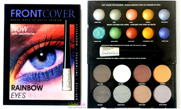 Rainbow Eyes palette by FrontCover Cosmetics