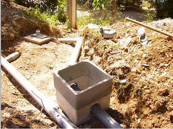 Plomberie - Tranchee pour raccordement maison ...