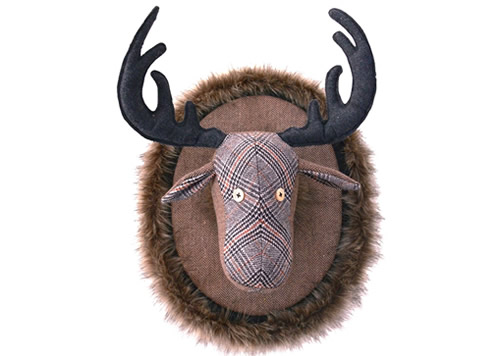 Tweed Fabric Moose Head