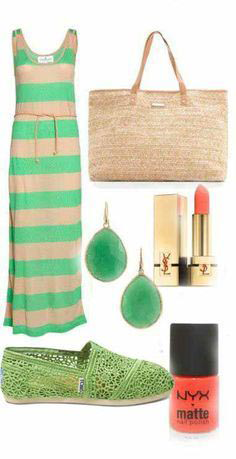 Beautiful Green Summer Outfit