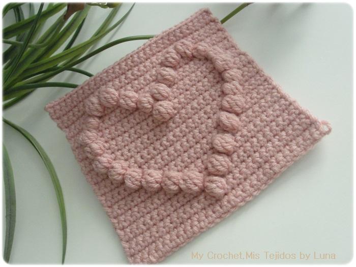 My Crochet , Mis Tejidos by Luna: Granny with a Puff Stitch Heart