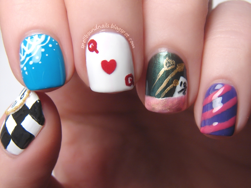 Nail Art Style: Disney Challenge: Alice in Wonderland