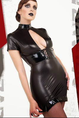 Sexy Robe Courte Natacha Faux Leather Dress