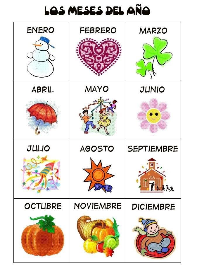 Meses del ano en espanol mejor conjunto de frases for En 4 meses termina el ano