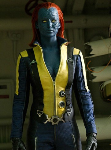 Does Mystique color her hair or is that natural X Men First Class Mystique Full Body