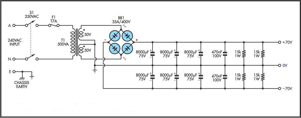 ilmu bengkel  membuat power supply untuk high power amplifier