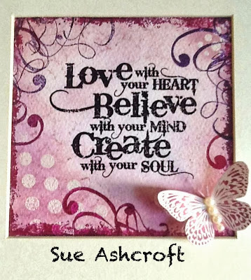 create with your soul stamp - grunge flourish - background stamps - visible image