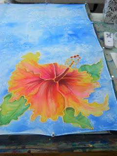 silk painting class Marionette Kauai Hawaii
