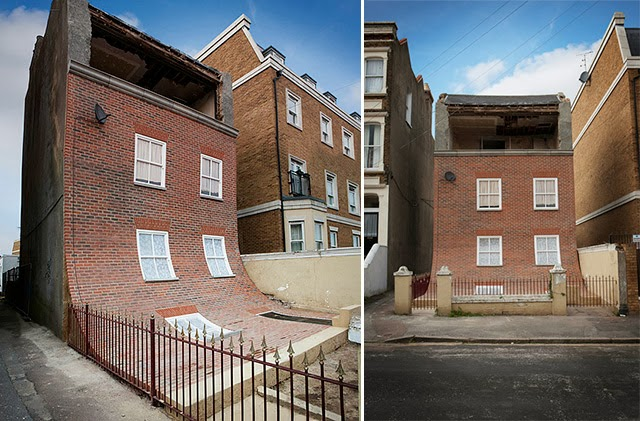 astelvio: English Building's Brick Facade Playfully Slumps ... Brick Apartment Building
