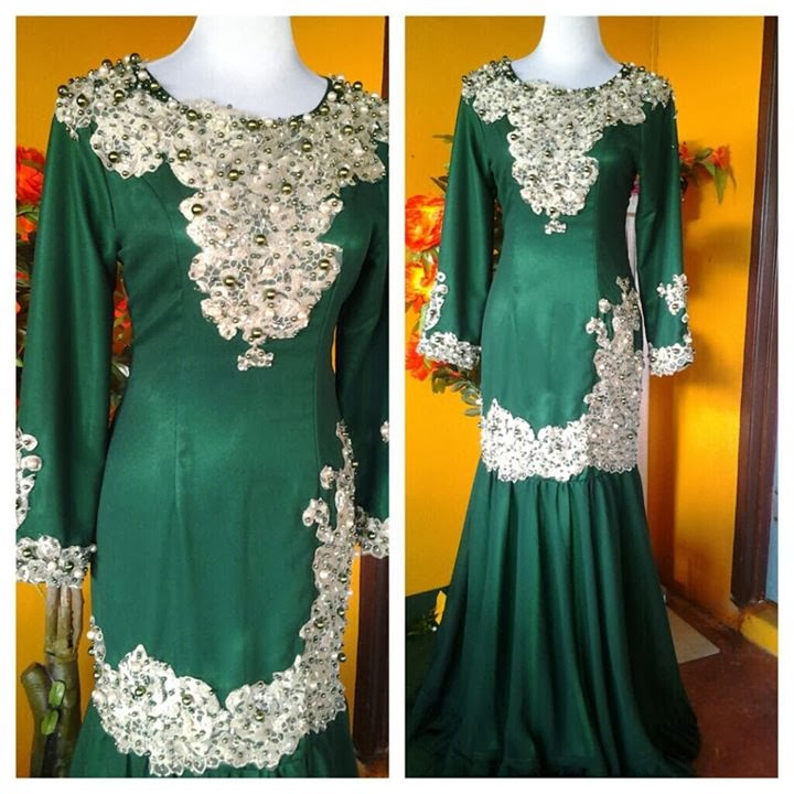 pun guna warna hijau emerald gak untuk baju kahwin