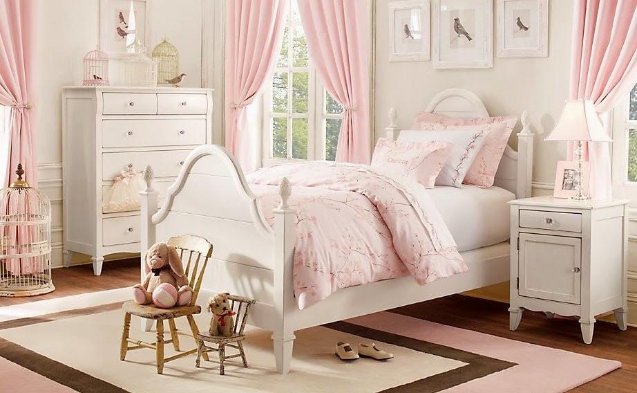 model warna cat putih kamar anak perempuan