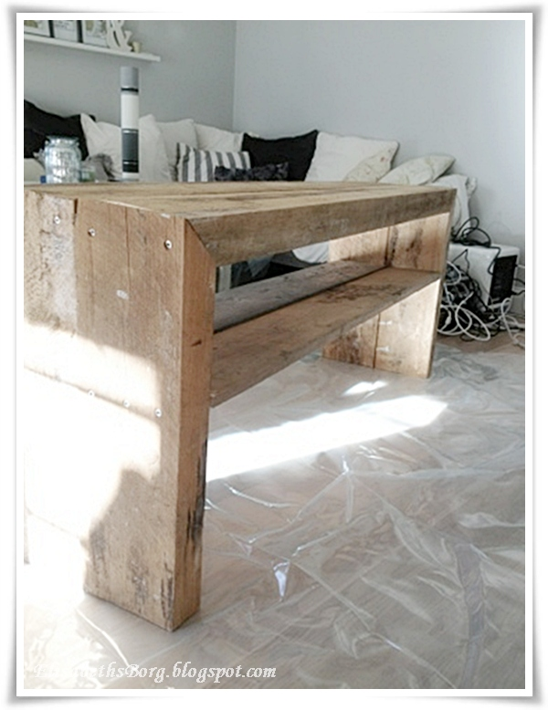 diy tv bord fra plank til resultat. Black Bedroom Furniture Sets. Home Design Ideas