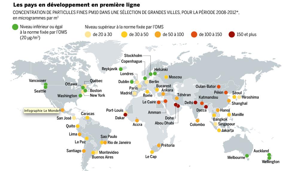 Carte Monde Villes