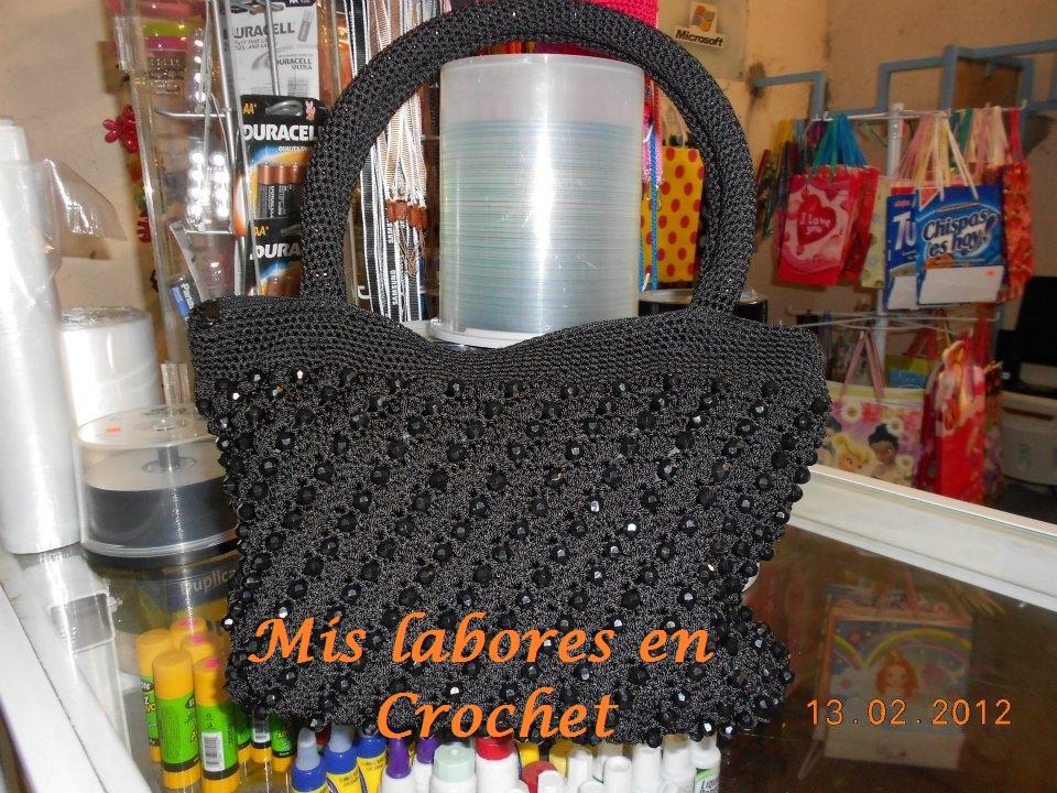 Mis labores en Crochet: Bolsa de cuentas en crochet