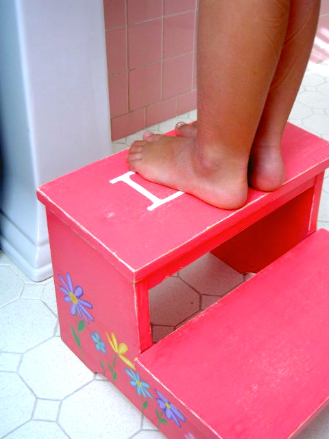 That 39 s my letter s is for step stool 2 for Diy kids stool