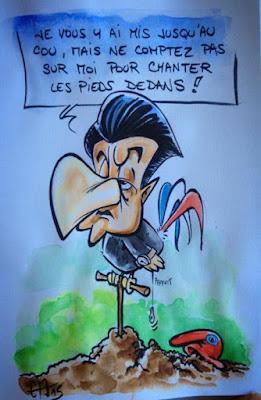 Croquis Sarkozy - Guillaume Néel ©