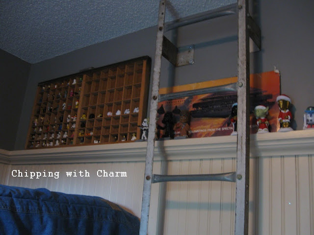 Chipping with Charm:  Silo Ladder...http://www.chippingwithcharm.blogspot.com/