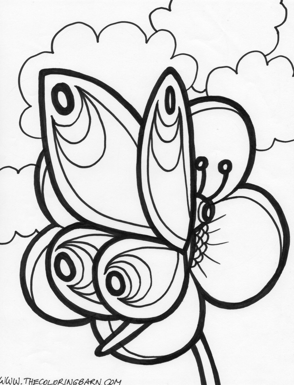 animals coloring book for kids butterflies picture coloring page