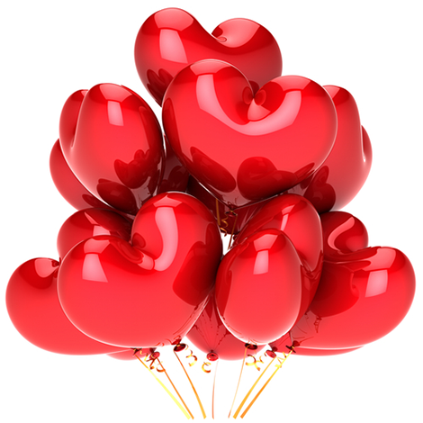 Bouquet of Heart Balloons