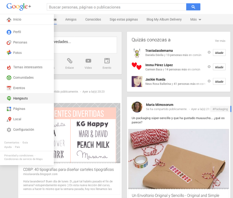 Hangouts de Google Plus