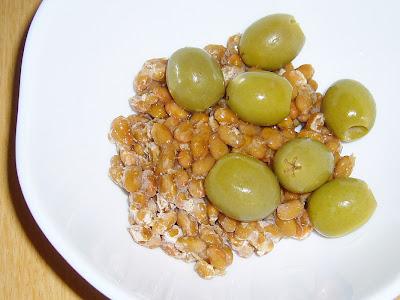 納豆にグリーンオリーブ感覚