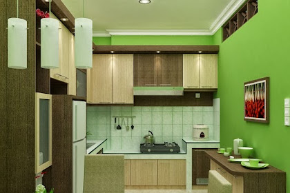 Gambar Interior Desain Dapur Warna Melankolis Minimalis