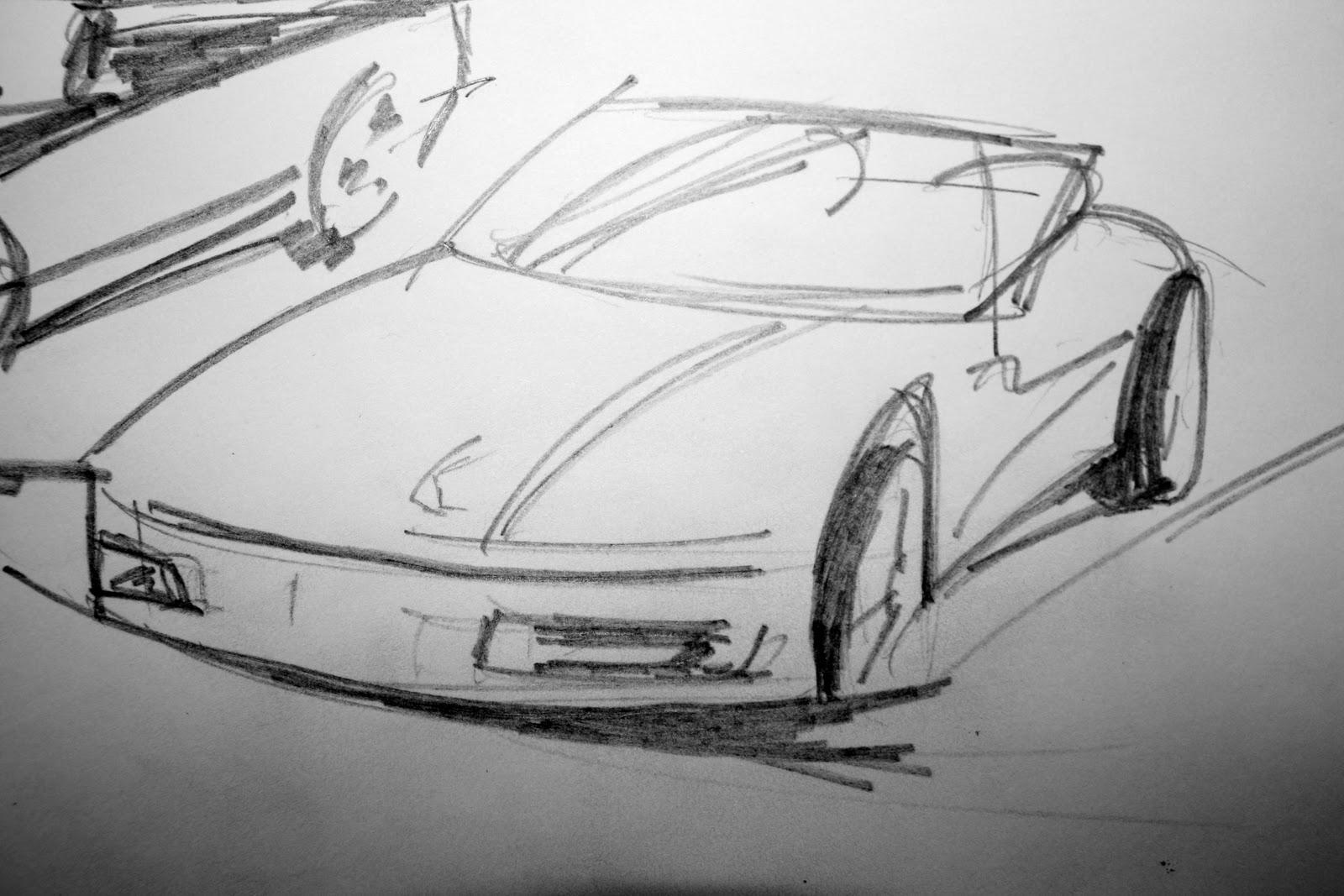 Ben Knights Art: Car sketches