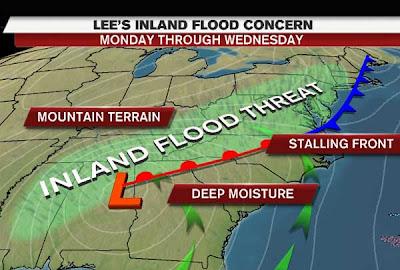 LEE bringt weiter Regen, wo man keinen Regen braucht und KATIA ist ein Hurrikan - wieder einmal, Lee, Katia, September, 2011, Hurrikansaison 2011, Atlantik, US-Ostküste Eastcoast, USA, Sturmflut Hochwasser Überschwemmung, aktuell, Golf von Mexiko,