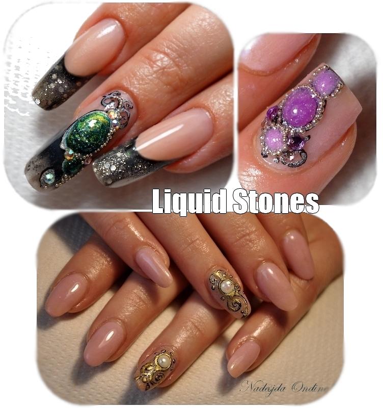 Nouveau : les Liquid Stones - Pierres Liquides. Comment faire?? Trois exemples et astuces...
