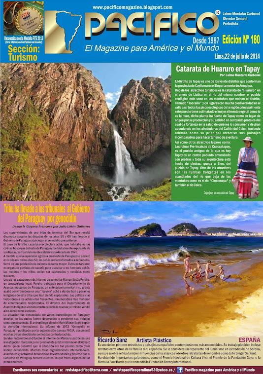 Revista Pacífico Nº 180 Turismo