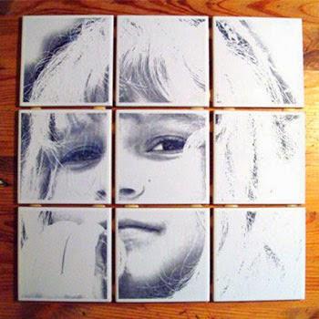 Azulejos personalizados con papel de seda