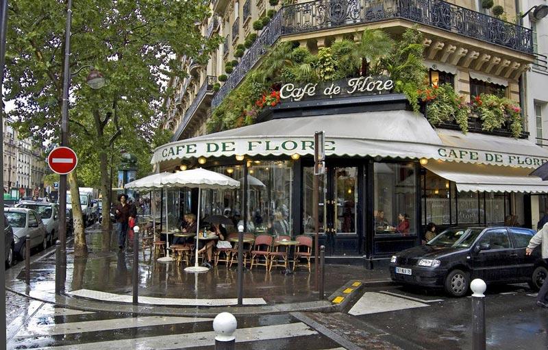 Afbeeldingsresultaat voor Afbeeldingen van cafe de flore paris