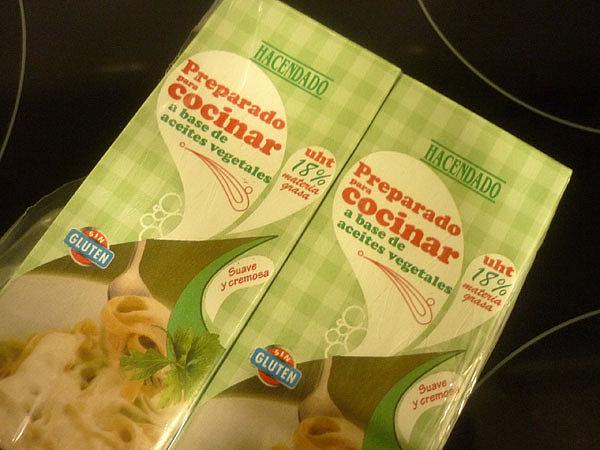 Hoy me ha dado por spaghettis a la carbonara - Nata para cocinar mercadona ...