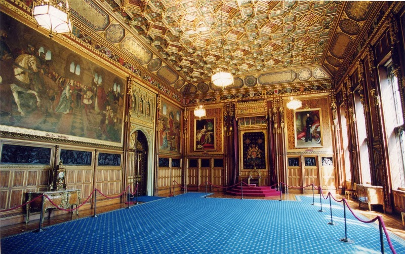 Houses Of Parliament Interior.  Queen s Robing Room is used by the of England to don her royal attire including crown before opening Houses Parliament The Salviati Architectural Mosaic Database