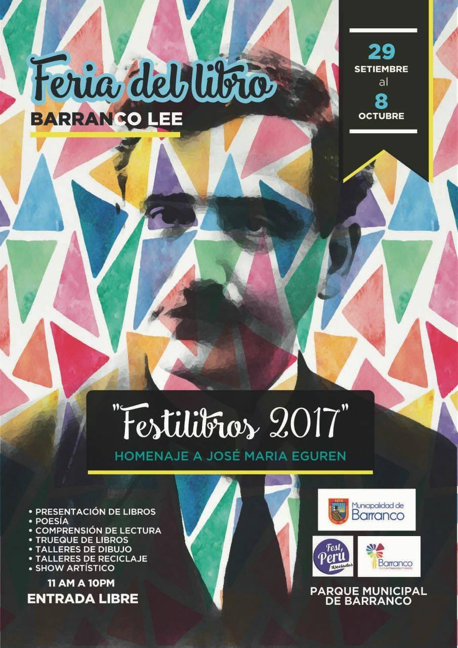 En Feria del Libro BARRANCO LEE (29 setiembre al 8 octubre 2017)