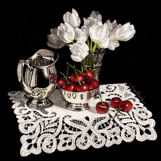 http://www.dailypaintworks.com/fineart/sandra-willard/tulips-and-cherries/207895