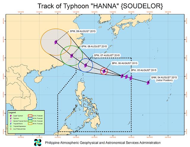 Typhoon Hanna track