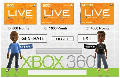 Xbox 360 live code generator hack tool - Wixcom