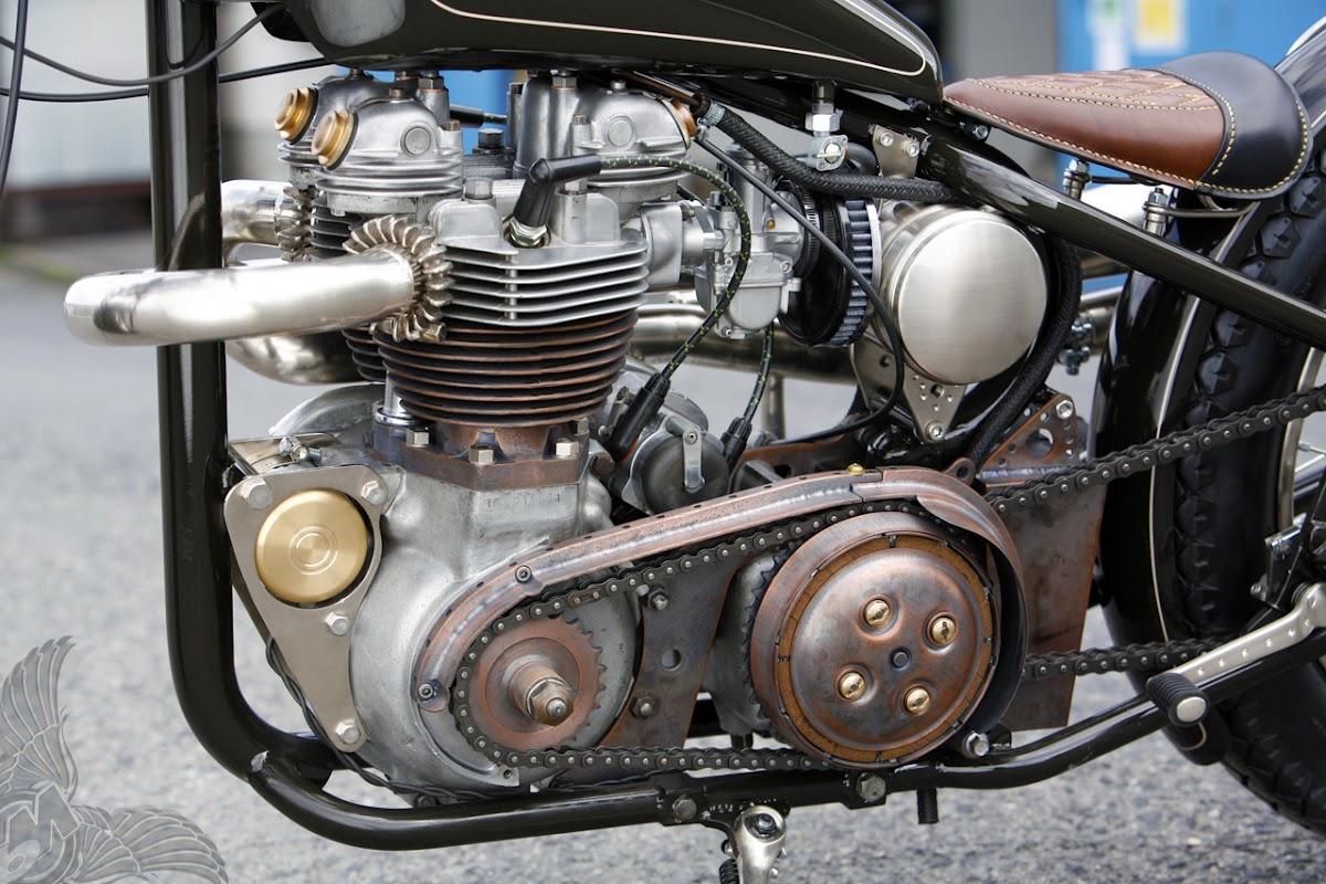 1958 triumph tr6 bobber | heiwa motorcycles